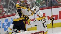 Gólman Predators Pekka Rinne vstřelil gól do sítě Chicaga v zámořské NHL a stal se dvanáctým brankářem v historii zámořské soutěže, kterému se povedlo skórovat.