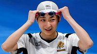 Japonská plavkyně Rikako Ikeeová poprvé od leukémie závodila na 100 metrů motýlek.