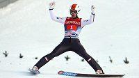 Skokan na lyžích Thomas Diethart v Garmisch-Partenkirchenu.