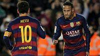 Lionel Messi (10) i Neymar prožili fantastický rok 2015. Brazilec však na svého parťáka z Barcelony v anketě nestačil - Messi získá svůj pátý Zlatý míč.