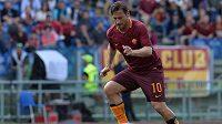 Italský útočník Francesco Totti z AS Řím během utkání Serie A proti Atalantě.