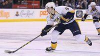 Švédský útočník Filip Forsberg z Nashvillu v zápase NHL proti Torontu.