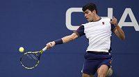 Carlos Alcaraz ze Španělska na US Open řádí