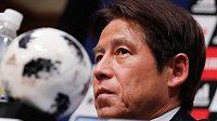 Kouč japonských fotbalistů Akira Nišino.