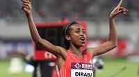 Etiopská atletka Genzebe Dibabaová