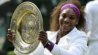 Serena Williamsová si chce z Londýna odvézt i olympijské zlato.