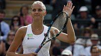 Karolína Plíšková září spokojeností. Postup do 2. kola Wimbledonu zvládla bez potíží.