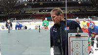 Trenér české hokejové reprezentace Alois Hadamczik během srazu hokejové reprezentace v holešovické Tipsport Areně.