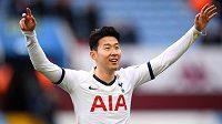 Son Hung-min v dresu Tottenhamu.