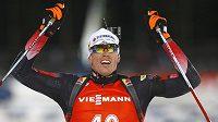 Nečekaný vítěz sprintu v Chanty Mansijsku Julian Eberhard z Rakouska.