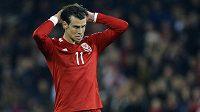 Velšský fotbalista Gareth Bale během kvalifikačního utkání o postup na ME proti Kypru.
