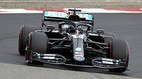 Lewis Hamilton při Velké ceně Eifelu na Nürburgringu.