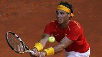 Španěl Rafael Nadal v daviscupovém utkání proti Ukrajině.
