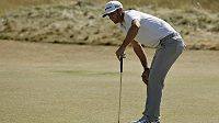 Americký golfista Dustin Johnson na US Open.