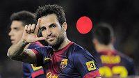 Dva důvody k oslavě měl po středečním postupu do semifinále Ligy mistrů záložník Barcelony Cesc Fábregas.