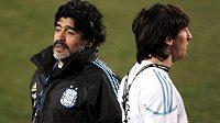 Diego Maradona moc svého nástupce Lionela Messiho nemusí