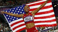 Olympijská vítězka závodu na 200 metrů z Londýna Allyson Felixová