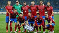 Český tým před utkáním Ligy národů proti Ukrajině v Charkově.