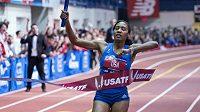 Americká finišmenka štafety na 4x800 metrů Ajee Wilsonová, která doběhla v novém světovém rekordu.