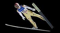 Němec Severin Freund v akci při SP v Lillehammeru.