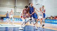 Boj o každý míč, nakonec české basketbalistky vRize podlehly Italkám 63:69.