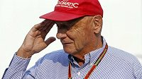 Niki Lauda při GP Singapuru.