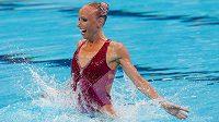 Česká reprezentantka v synchronizovaném plavání Soňa Bernardová.