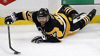 Útočník Pittsburghu Sidney Crosby v zápase proti Washingtonu.