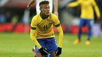 Brazilec Neymar v Anglii rozhodně nenadchl.