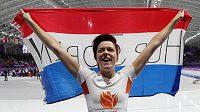 Ženský olympijský závod na 1000 metrů v rychlobruslení ovládla Nizozemka Jorien ter Morsová.