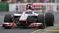 Britský pilot Jenson Button ze stáje McLaren během tréninku v Melbourne