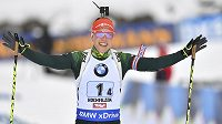 Německá biatlonistka Laura Dahlmeierová.