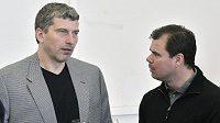 Olympijští vítězové z Nagana (zleva) Richard Šmehlík a Jaroslav Špaček při oslavách 15. výročí triumfu.