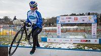 Kateřina Nash při tréninku na trati mistrovství světa v Táboře.