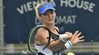 Česká tenistka Tereza Martincová v zápase semifinále Livesport Prague Open.