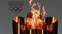 Olympijský oheň putuje Japonskem.