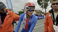 Rychlobruslařská hvězda Martina Sáblíková při časovce na cyklistickém MS v Nizozemsku