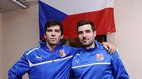 Krajánci z finské ligy v české reprezentaci, Tomáš Sladký (vlevo) a Jan Jelínek