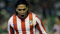 Kolumbijský snajpr Radamel Falcao znovu vystřelil Atlétiku Madrid výhru.