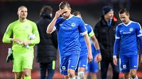 Liberecký záložník Radim Breite neskrýval po utkání na Letné zklamání. Slovan prohrál 0:2.
