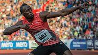 Jamajský sprinter Usain Bolt vyhrál na Zlaté tretře závod na 100 metrů.