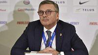 Prezident Mezinárodní hokejové federace (IIHF) René Fasel.