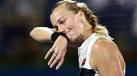 Zklamaná Petra Kvitová ve finále neuspěla.