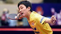 Čtrnáctiletý stolní tenista Tomokazu Harimoto vyhrál turnaj World Tour v Kitakjúšú.