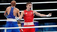 Irský boxer Michael Conlan (vpravo) během olympijského turnaje v Riu.