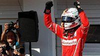 Sebastian Vettel po vítězství ve Velké ceně Maďarska F1.