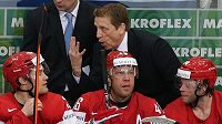 Greg Hanlon na lavičce Běloruska při MS