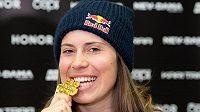 Eva Samková ze zlatou medailí z MS