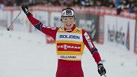 Radost norské lyžařky Marit Björgenová.