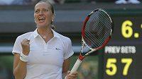 Radost Petry Kvitové po triumfu nad Venus Williamsovou.